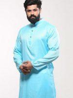 40 – Men's Cotton Punjabi – Teal Striped